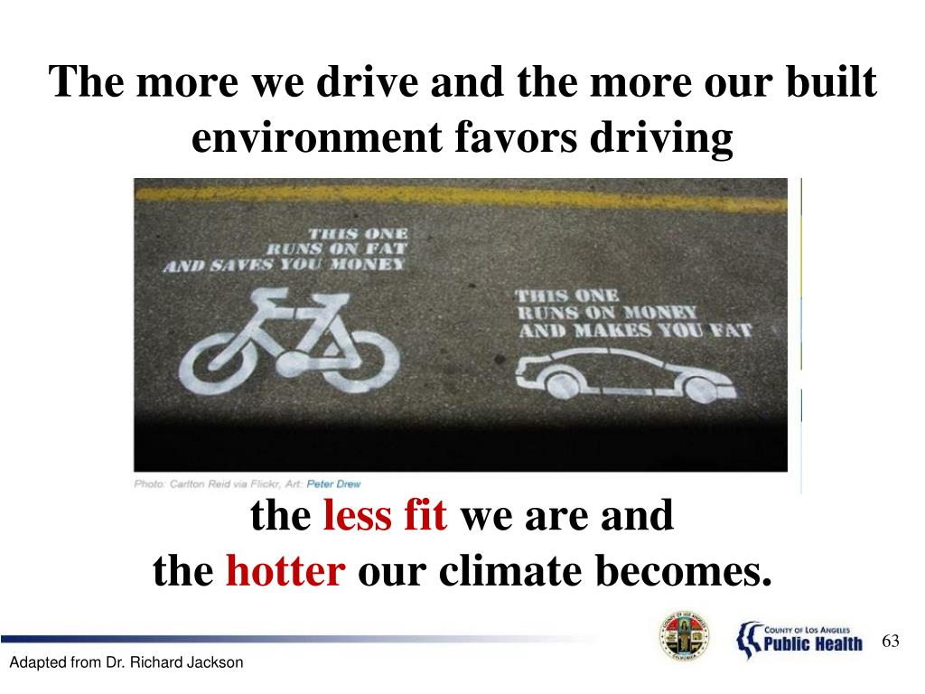 The more we drive and the more our built environment favors driving