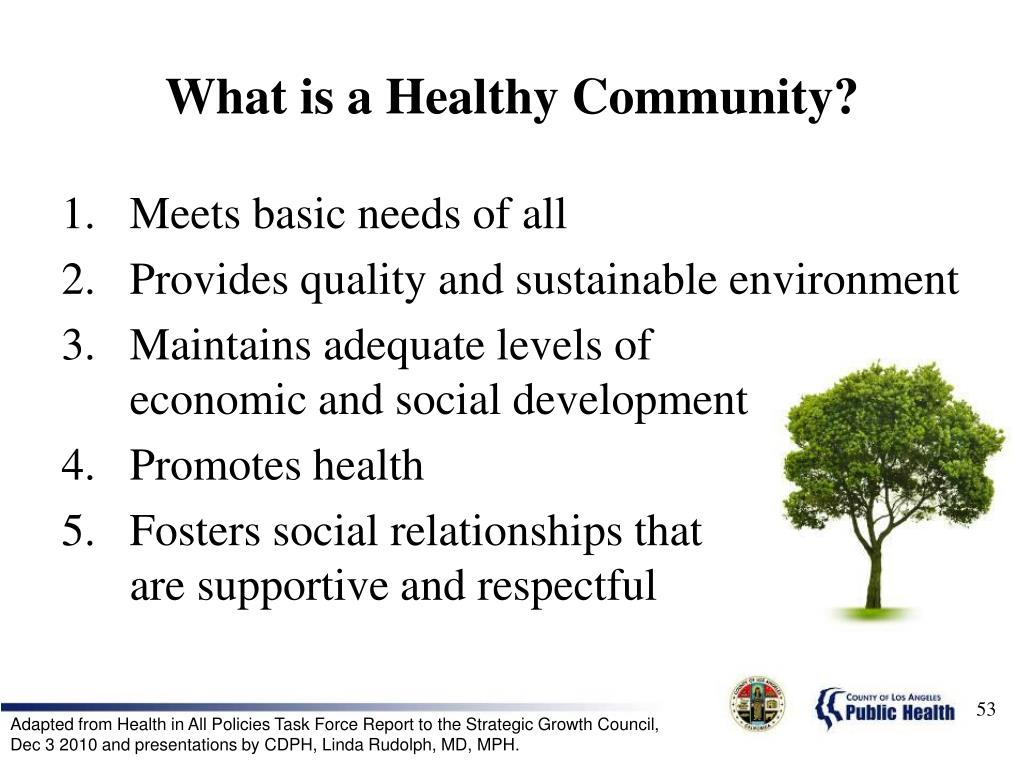What is a Healthy Community?