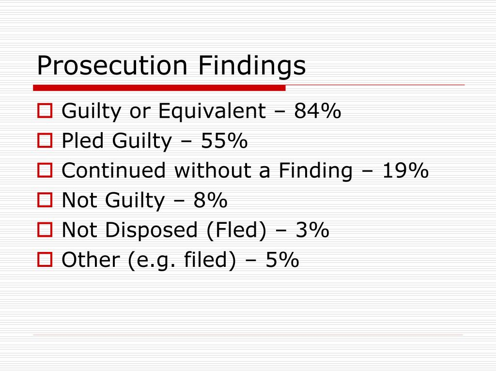 Prosecution Findings