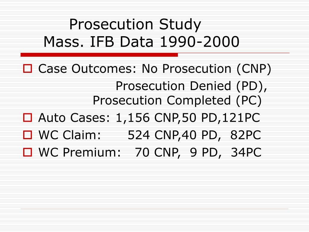 Prosecution Study