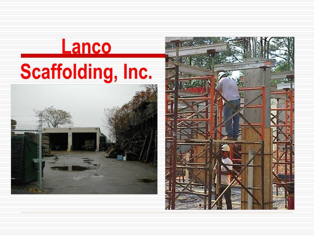 Lanco Scaffolding, Inc.