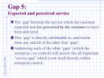 gap 5 expected and perceived service15