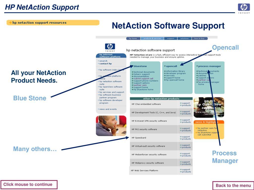 HP NetAction Support