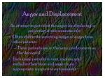 anger and displacement