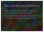 fear of the afterlife and the future