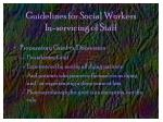 guidelines for social workers in servicing of staff