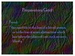 preparatory grief