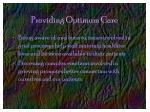 providing optimum care