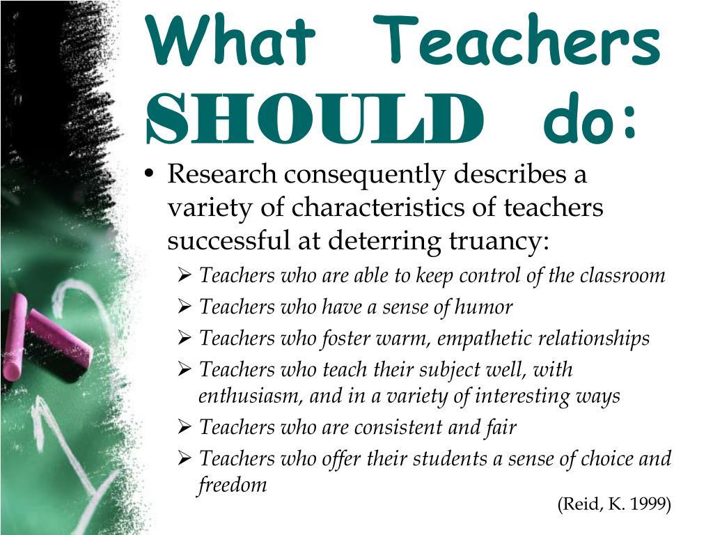 What  Teachers