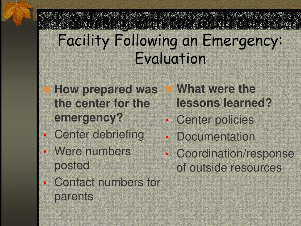 How prepared was the center for the emergency?