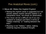 five analytical moves cont10