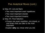 five analytical moves cont8