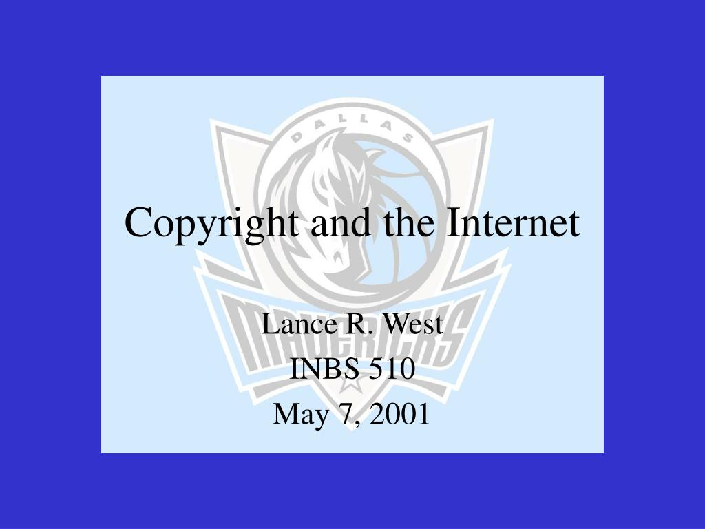 copyright and the internet l.