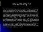 deuteronomy 18
