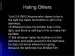 hating others