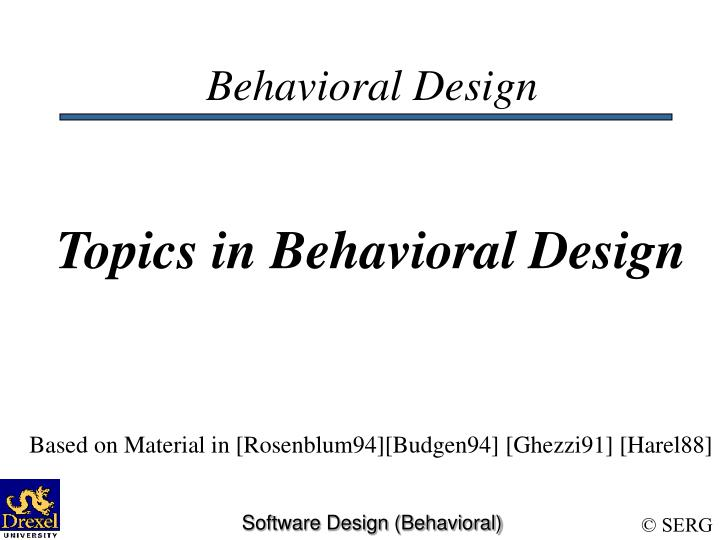 behavioral paper Behavioral learning theories educational psychology journal article presentation in a paper presented at the annual convention of the american psychological association in 1994 the.
