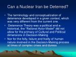 can a nuclear iran be deterred2