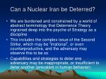 can a nuclear iran be deterred3