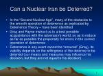 can a nuclear iran be deterred4