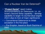 can a nuclear iran be deterred6