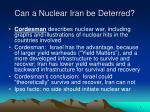 can a nuclear iran be deterred7