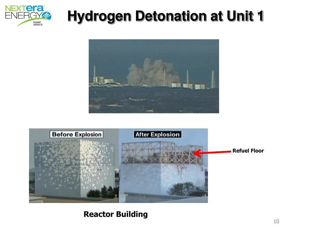 Hydrogen Detonation at Unit 1
