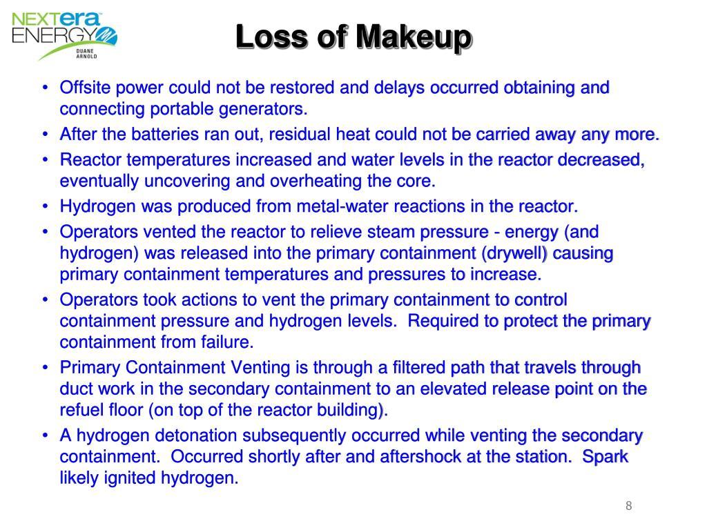 Loss of Makeup