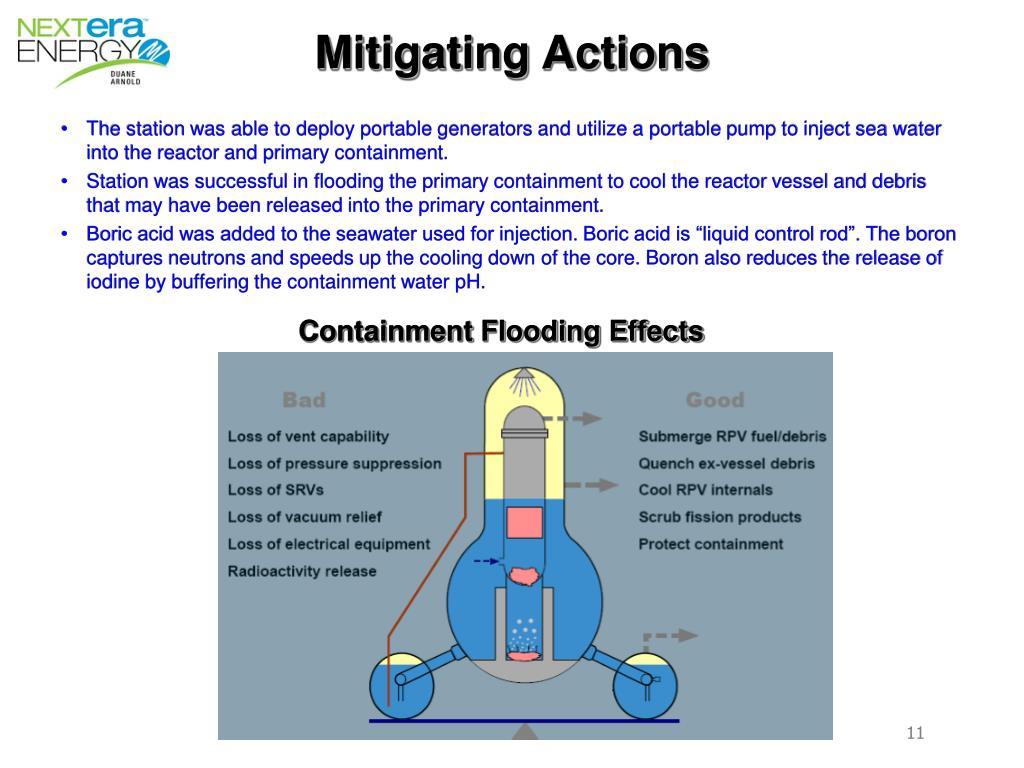 Mitigating Actions