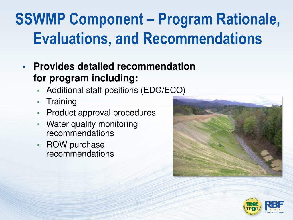SSWMP Component – Program Rationale,