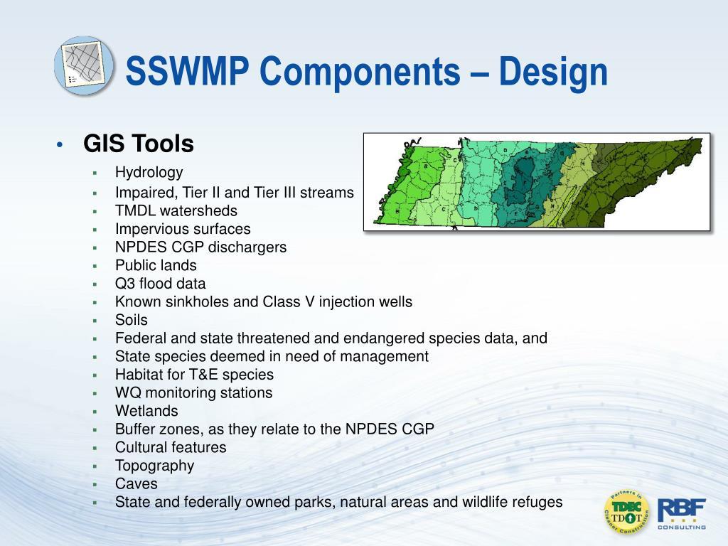 SSWMP Components – Design