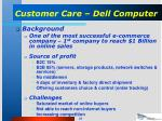 customer care dell computer