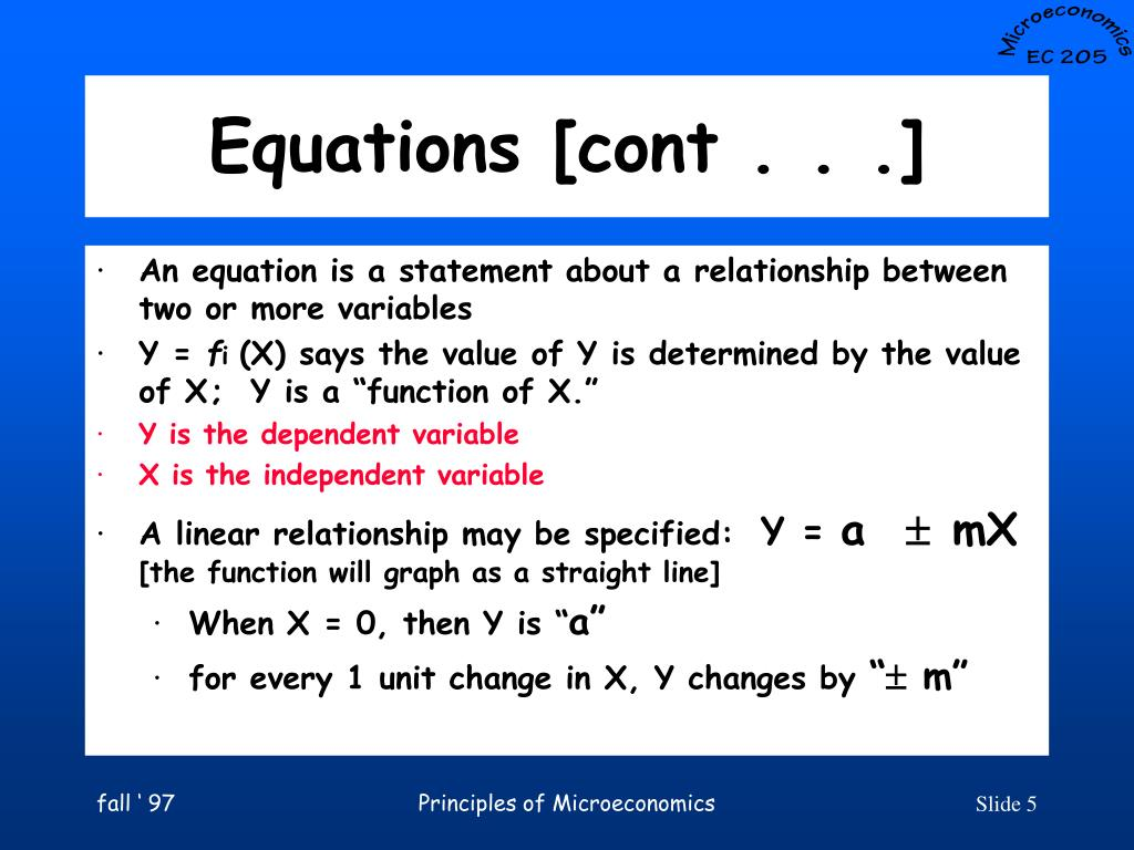 Equations [cont . . .]