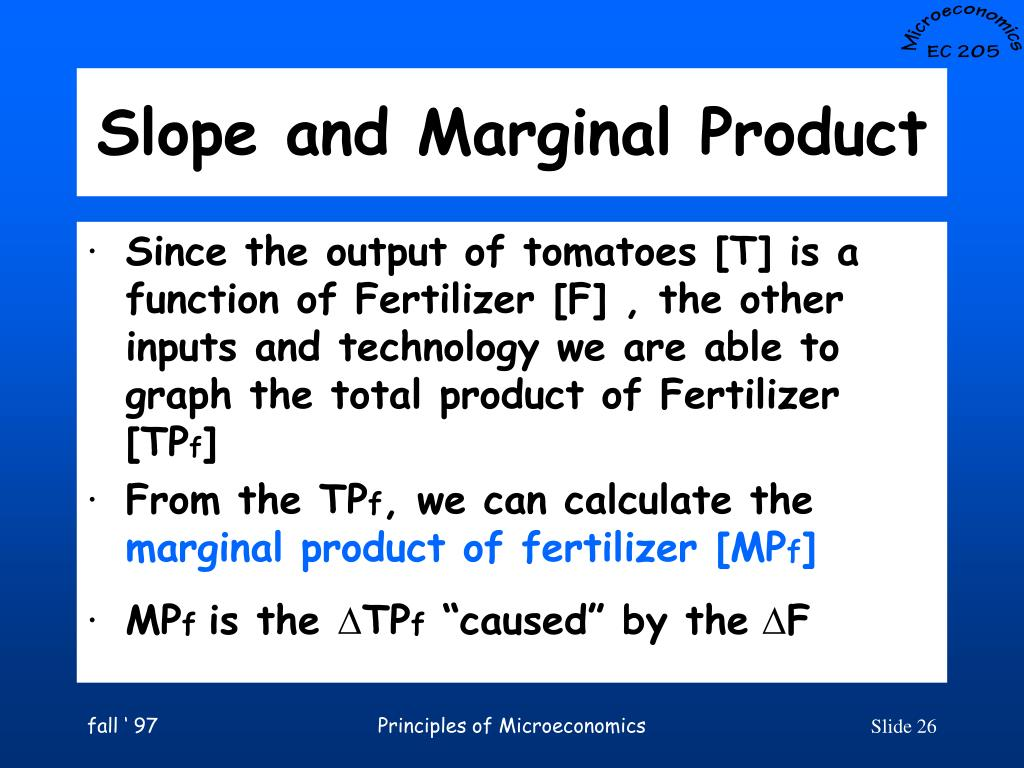 Slope and Marginal Product