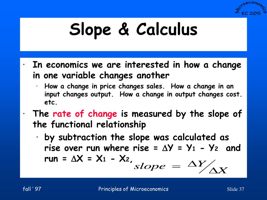 Slope & Calculus