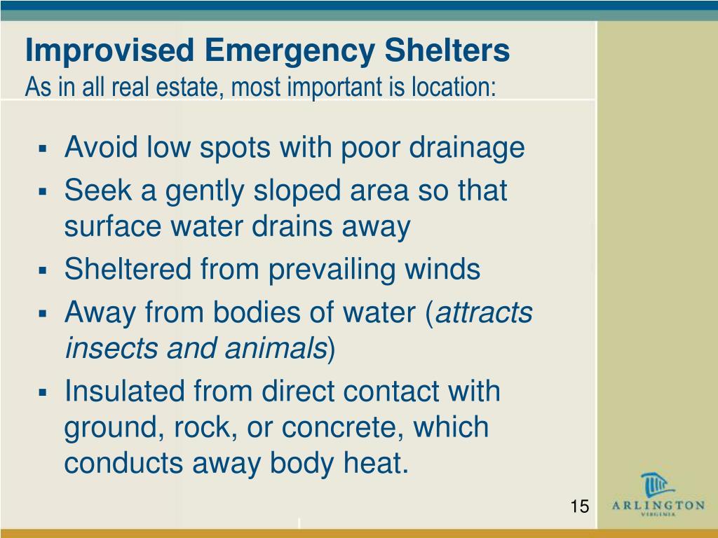 Improvised Emergency Shelters