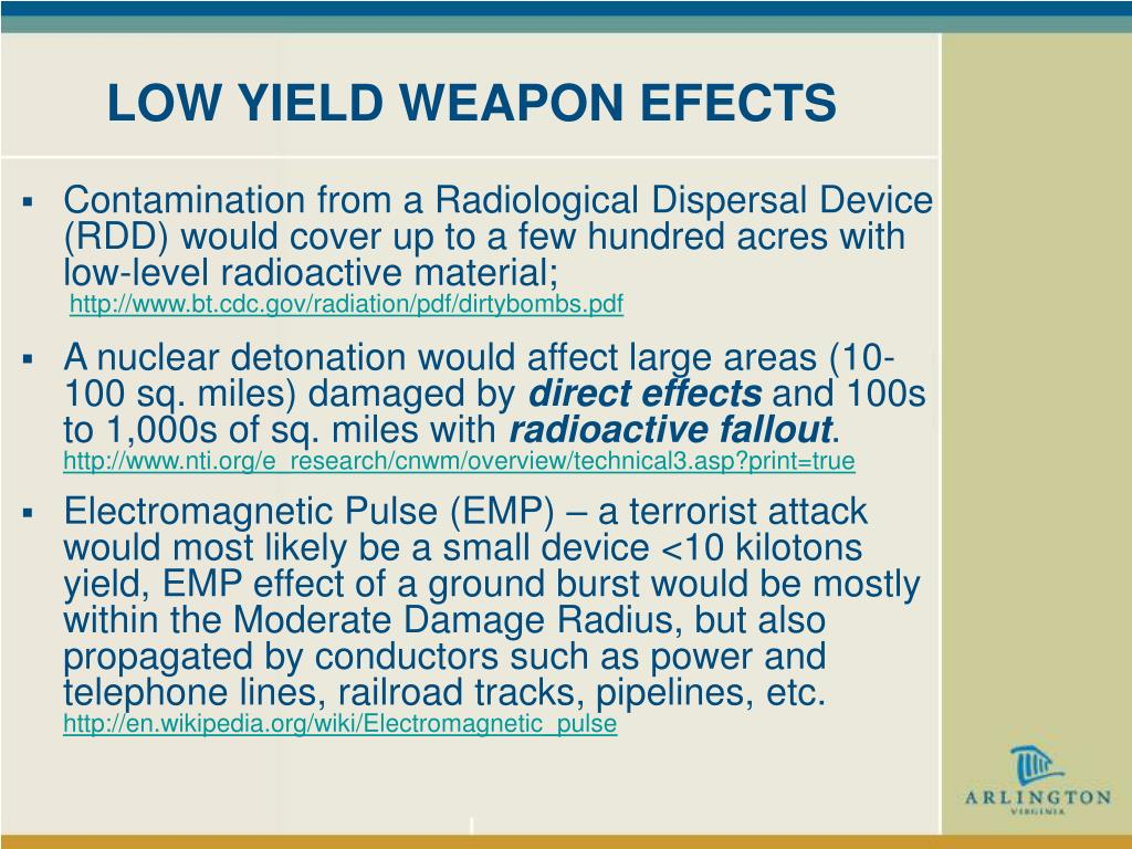 LOW YIELD WEAPON EFECTS