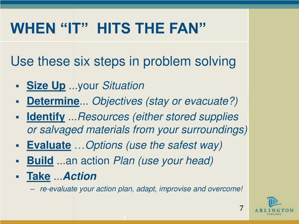 """WHEN """"IT""""  HITS THE FAN"""""""