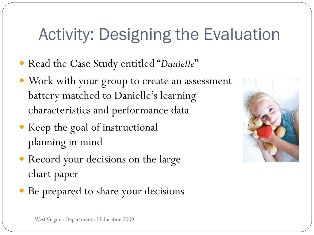 Activity: Designing the Evaluation