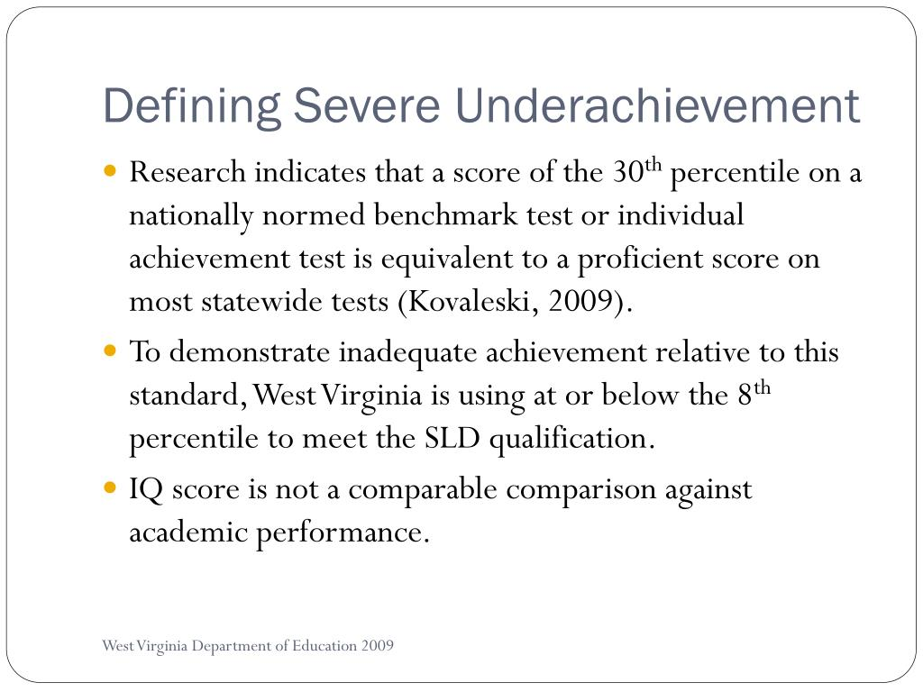 Defining Severe Underachievement