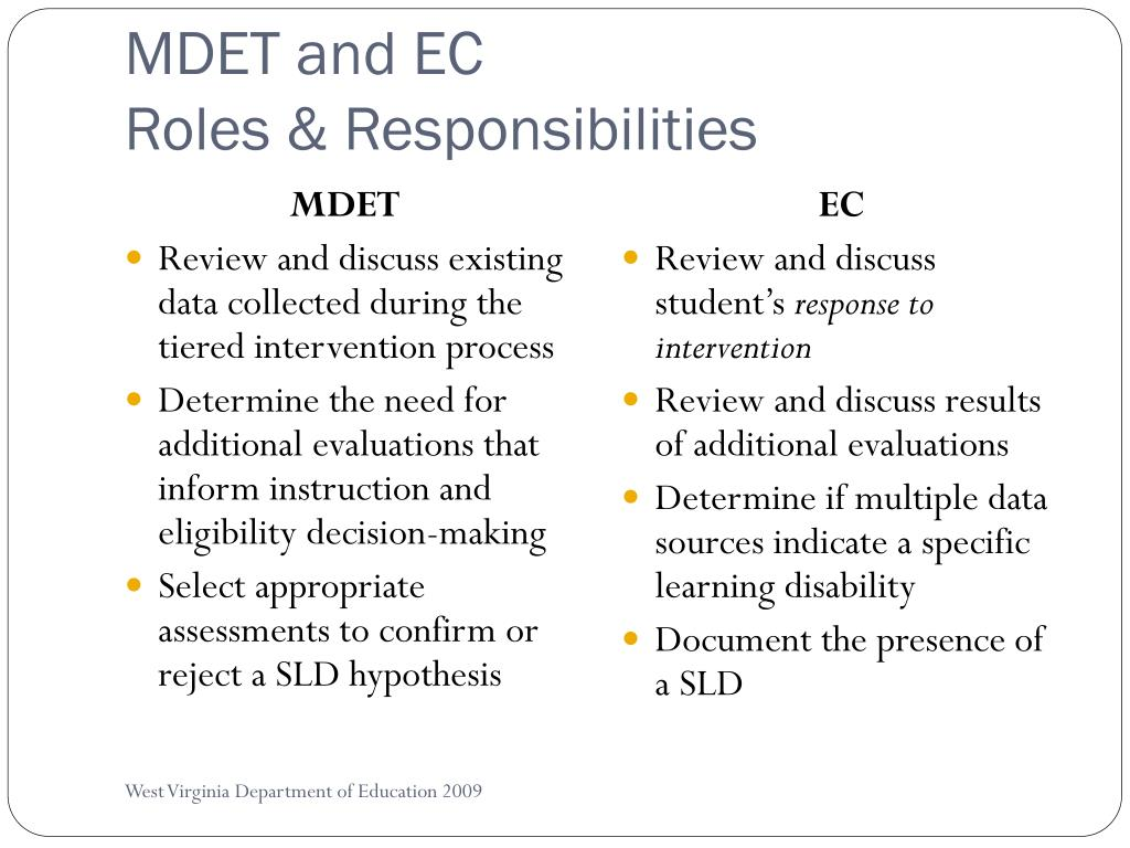 MDET and EC