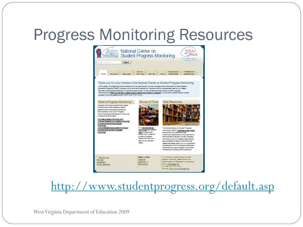 Progress Monitoring Resources