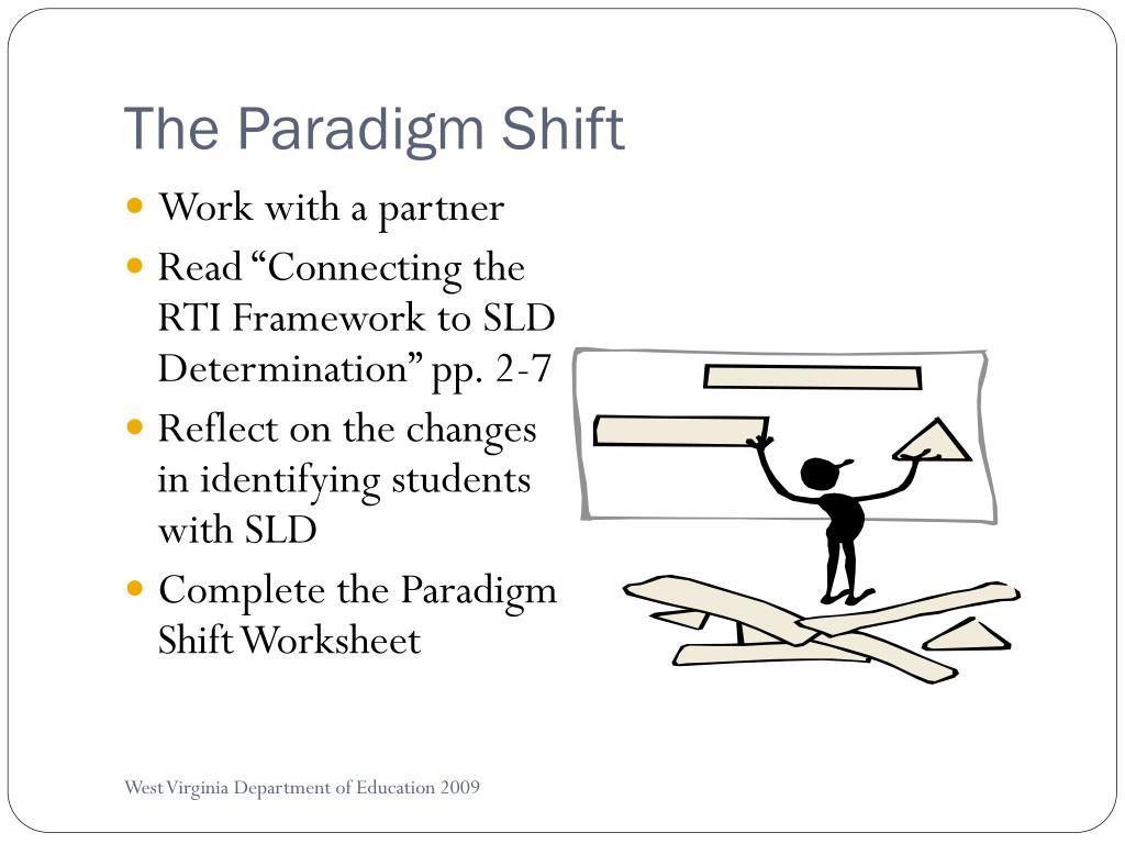 The Paradigm Shift