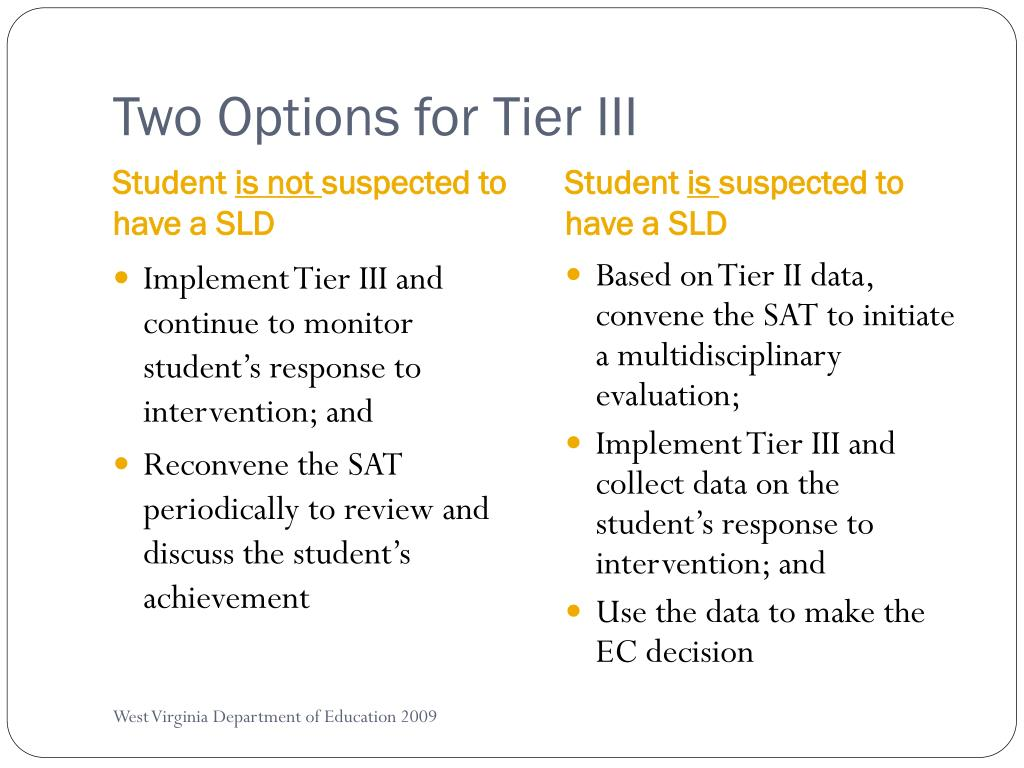 Two Options for Tier III