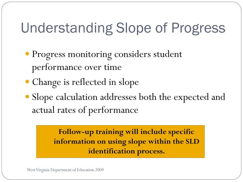 Understanding Slope of Progress