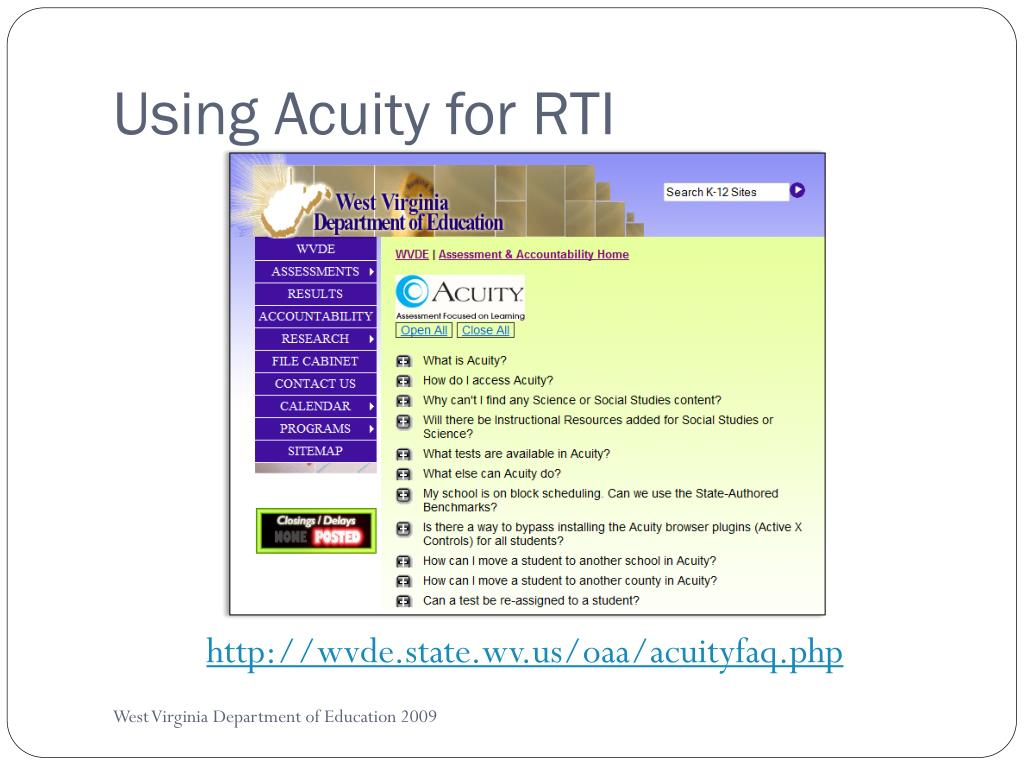 Using Acuity for RTI