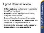 a good literature review29