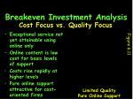 breakeven investment analysis29