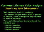 customer lifetime value analysis