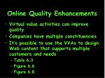 online quality enhancements