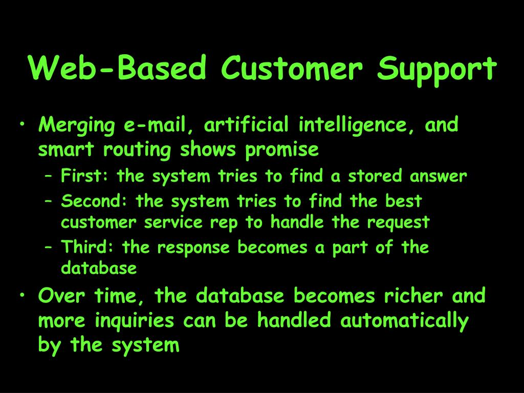Web-Based Customer Support